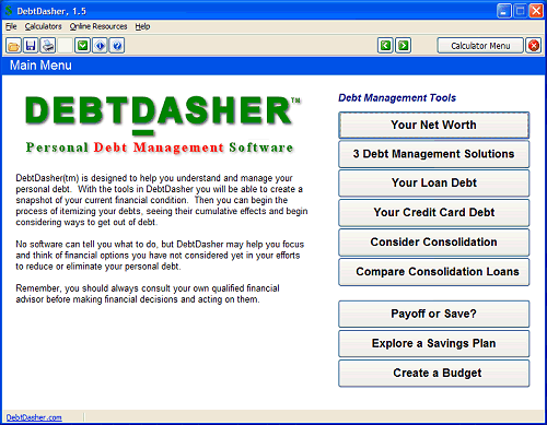 DebtDasher Screenshot