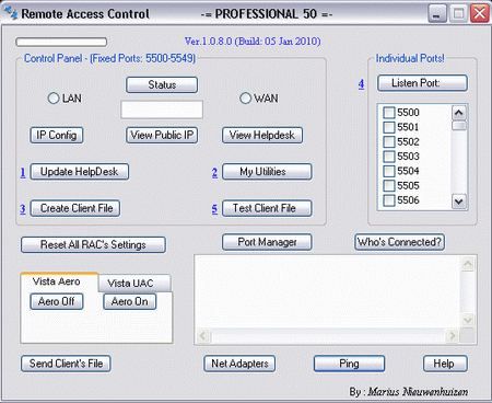 Remote Access Control (Uvnc-Plugin) Screenshot