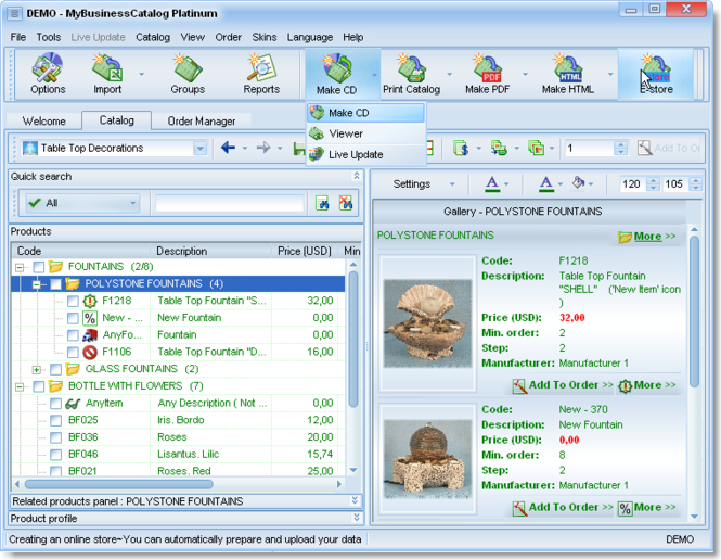 MyBusinessCatalog Platinum Ultimate License Screenshot 1