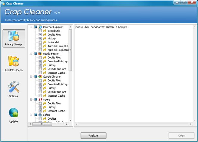 Crap Cleaner Screenshot 1