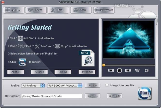 Aiseesoft MPG Converter for Mac Screenshot 3