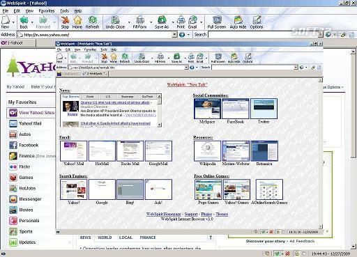 WebSpirit Internet Browser Screenshot 3