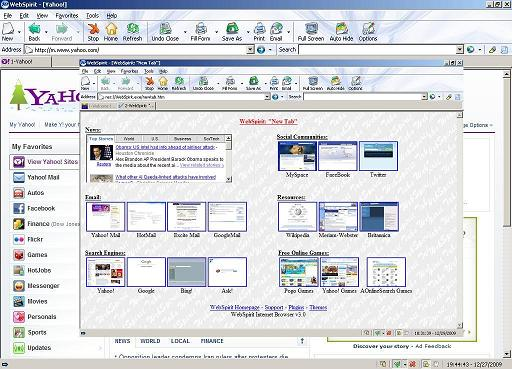 WebSpirit Internet Browser Screenshot