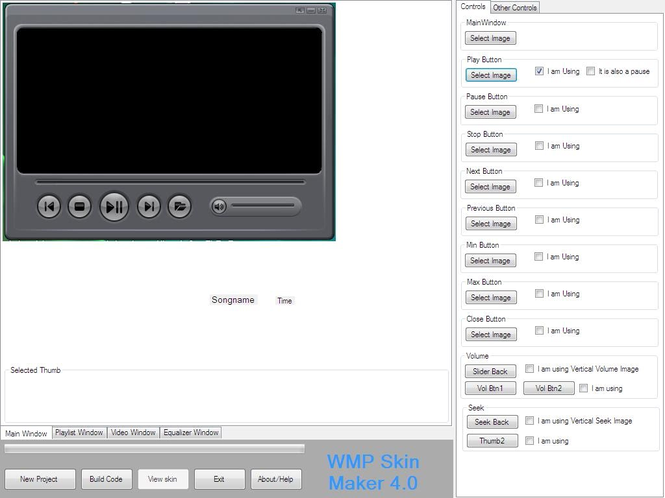 WMP SKIN MAKER Screenshot 1