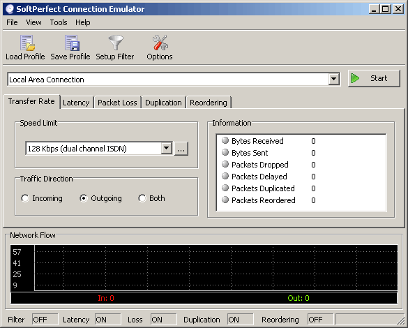 SoftPerfect Connection Emulator Screenshot