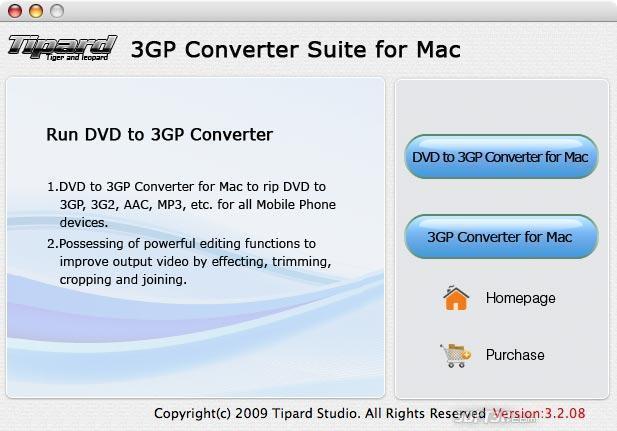 Tipard 3GP Converter Suite for Mac Screenshot 3