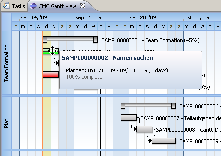 GanttChart for ClearQuest Screenshot