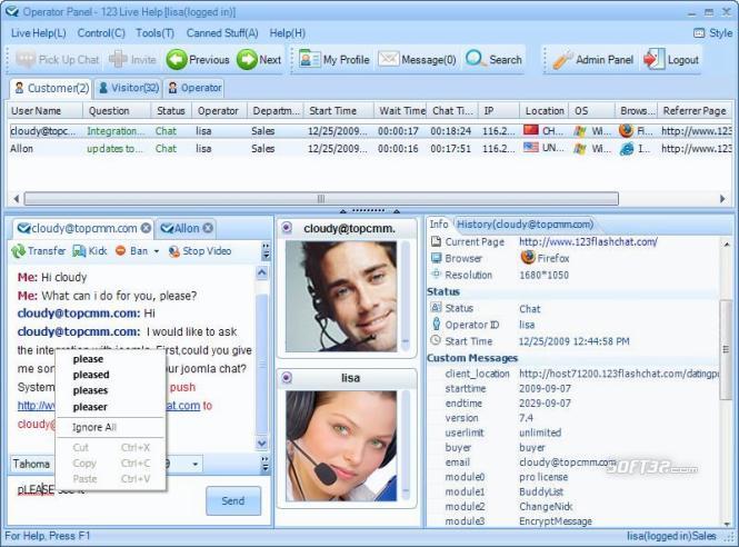 123 Live Help Chat Software Mac Screenshot 2