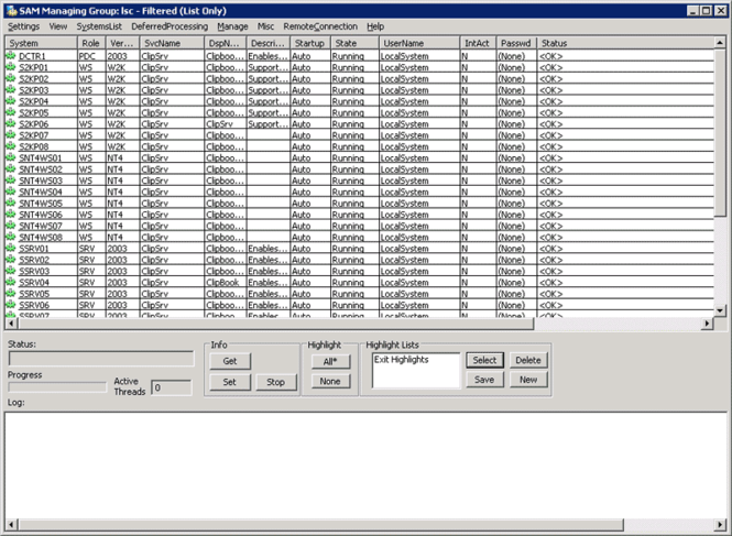 Service Account Manager Screenshot 1