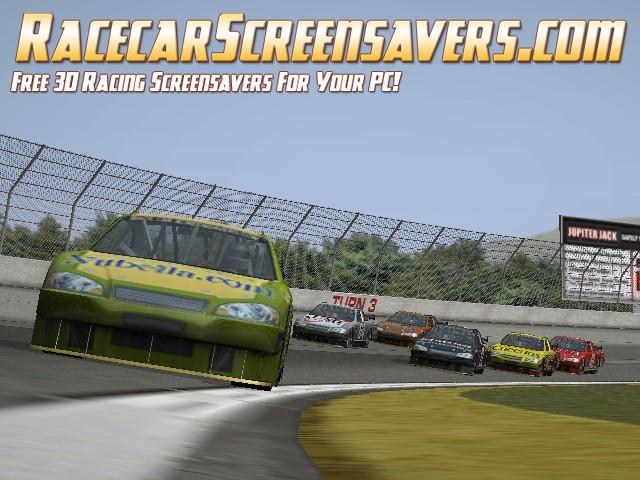 3D COT Racecar Screensaver Screenshot 1
