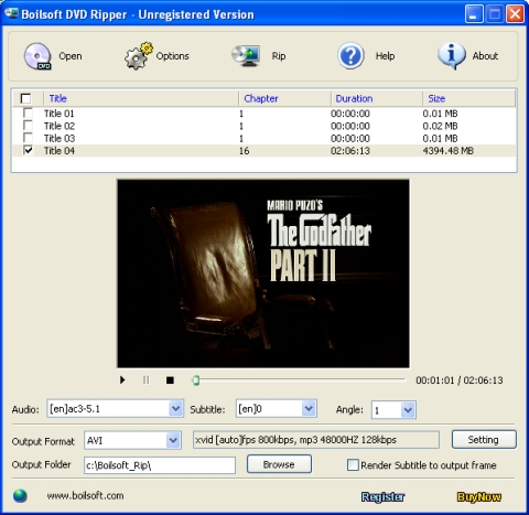 Boilsoft DVD Ripper Screenshot 3