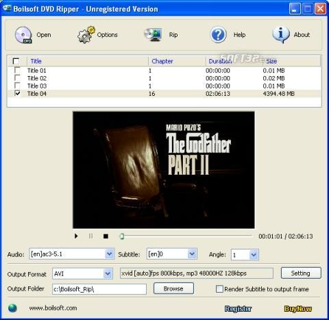 Boilsoft DVD Ripper Screenshot 2