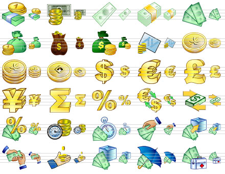 Large Money Icons Screenshot