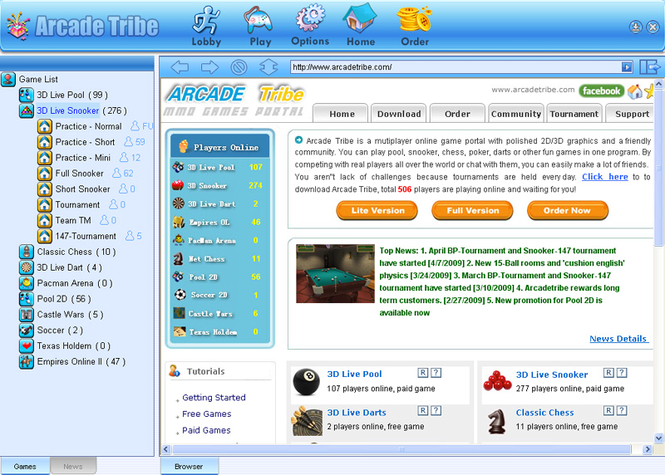 Arcadetribe Screenshot