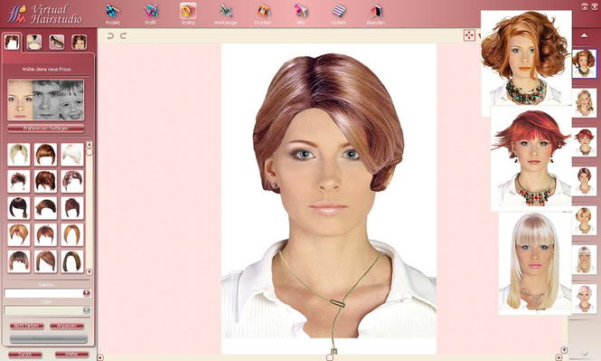 Virtual Hairstudio Salon Edition Screenshot