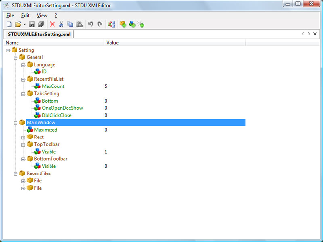 STDU XML Editor Screenshot 1