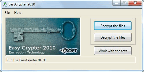 Easy Crypter 2010 Screenshot 1