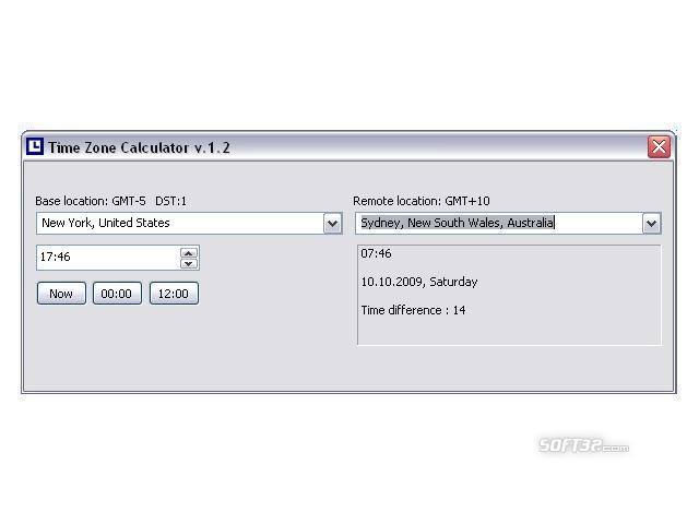 Time Zone Calculator Screenshot 2