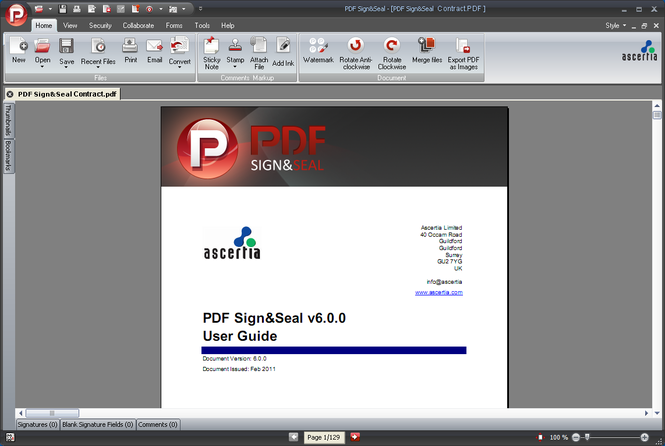 PDF Sign&Seal Screenshot