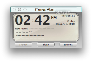 iTunes Alarm Screenshot