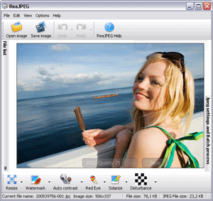 ReaJPEG photo editor Screenshot
