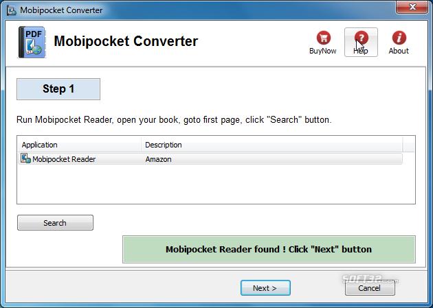 Mobipocket Converter Screenshot 3