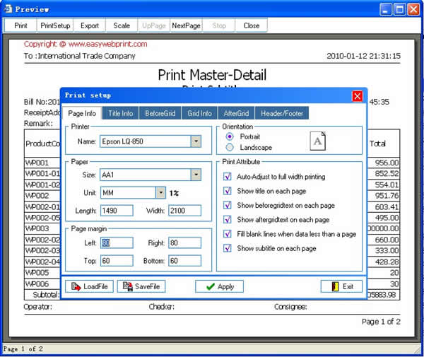 WebPrint Screenshot