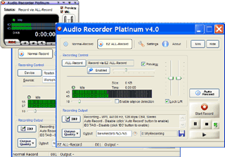 Audio Recorder Platinum Screenshot