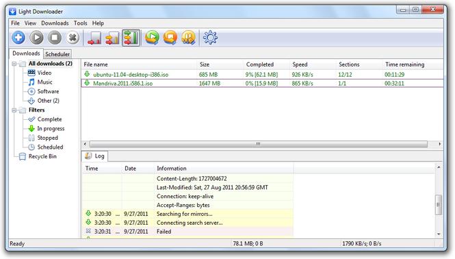 Light Downloader Screenshot 2