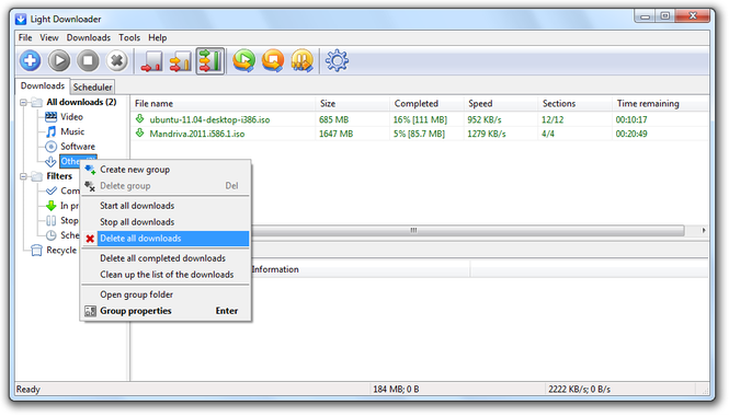 Light Downloader Screenshot 3