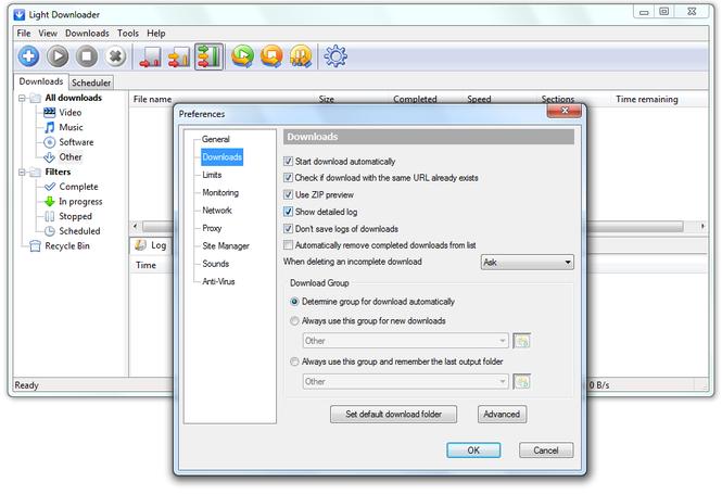 Light Downloader Screenshot 1