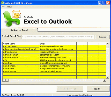 Import Excel File to Outlook Contacts Screenshot