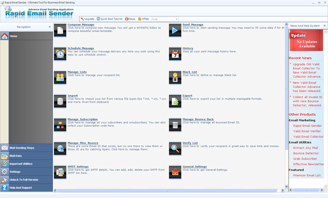 Rapid Email Sender Screenshot 1