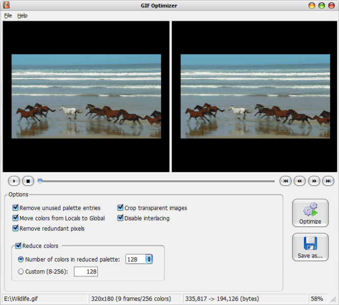 GIF Optimizer Screenshot 1