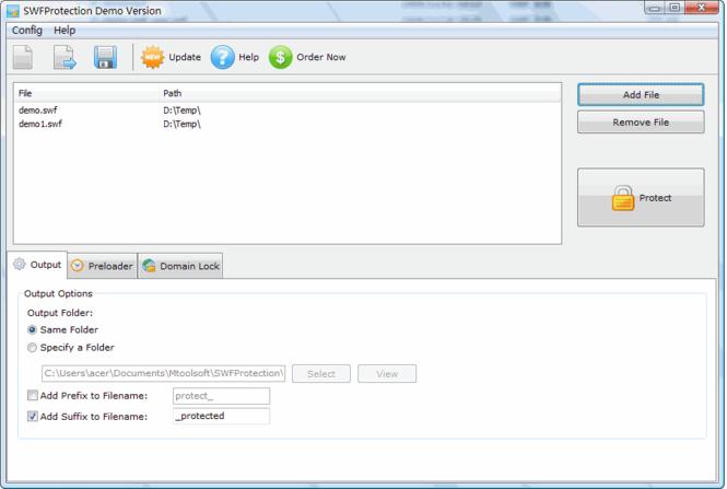 SWFProtection Screenshot 1