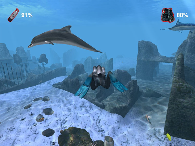 Diver: CheckDive +Underwater Screensaver Screenshot