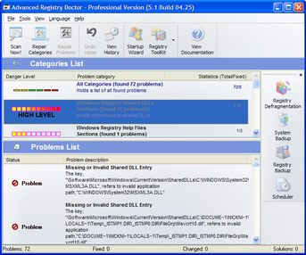 Advanced Registry Doctor Pro Screenshot