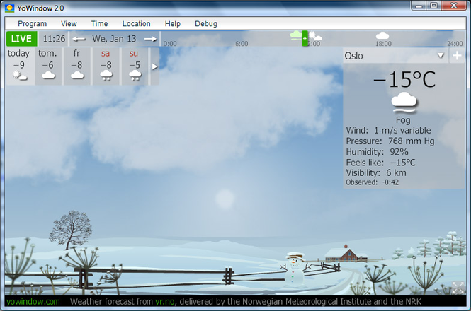 Desktop weather Screenshot