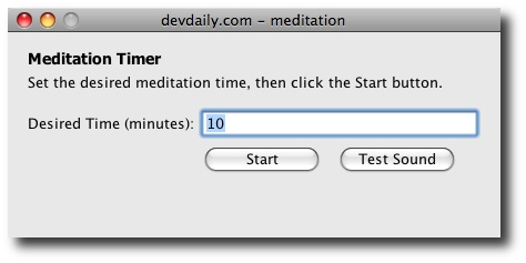 Meditation Screenshot