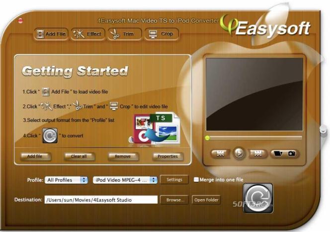 4Easysoft Mac Video TS to iPod Converter Screenshot 3