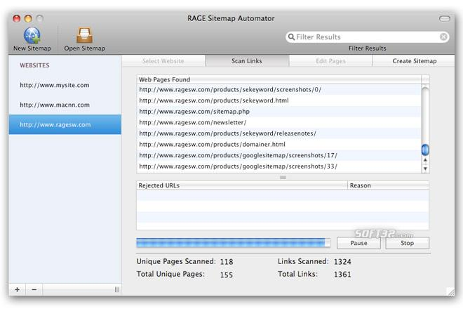 RAGE Sitemap Automator Screenshot 1