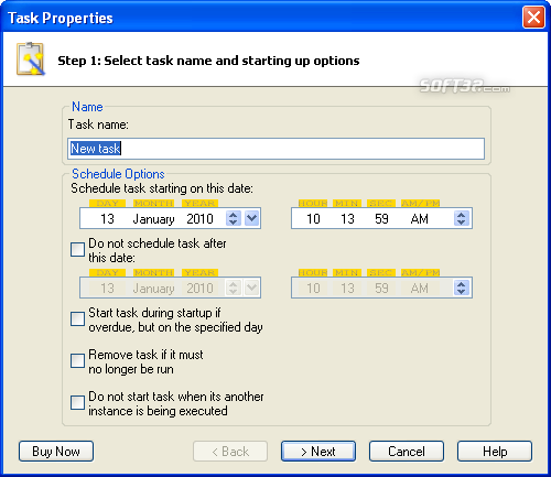 Advanced Task Scheduler Professional Screenshot 4