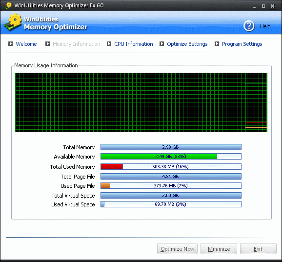 WinUtilities Free Memory Optimizer Screenshot 2