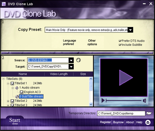 Boilsoft DVD Clone Lab Screenshot