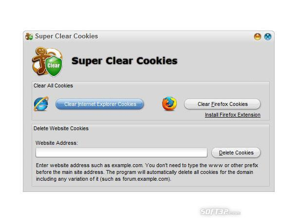 Super Clear Cookies Screenshot