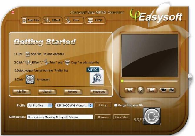 4Easysoft Mac MPEG Converter Screenshot 3