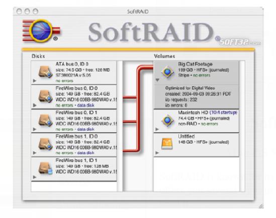 SoftRAID Screenshot