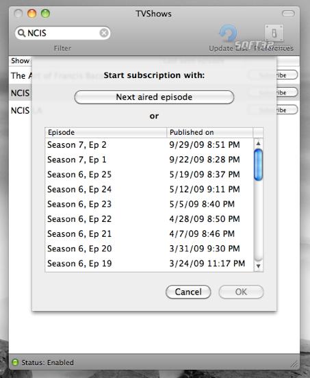 TVshows Screenshot 2