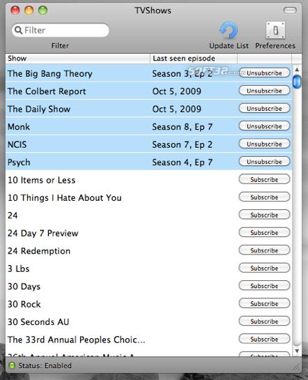 TVshows Screenshot