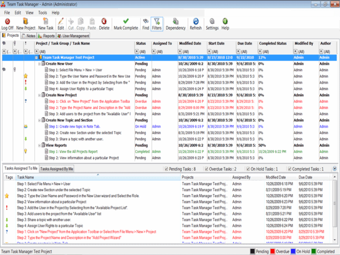 Team Task Manager Screenshot